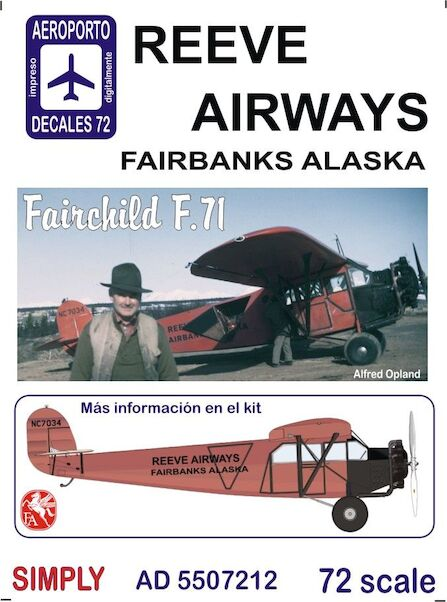 Fairchild F71 (Reeve Airways, Fairbanks Alaska)  Ad5507212