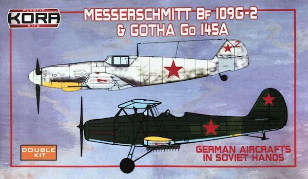 Messerschmitt BF109G 6 Gotha Go145 In Soviet Hands 2 Kits KPK72098