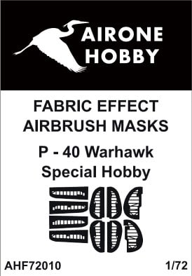 Fabric Effect Airbrush Masks Curtiss P40 Warhawk (Special Hobby)  AHF72010