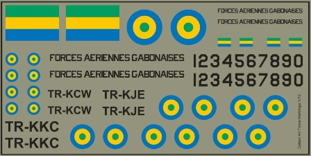 Gabon AF Markings  MAV-GAF721