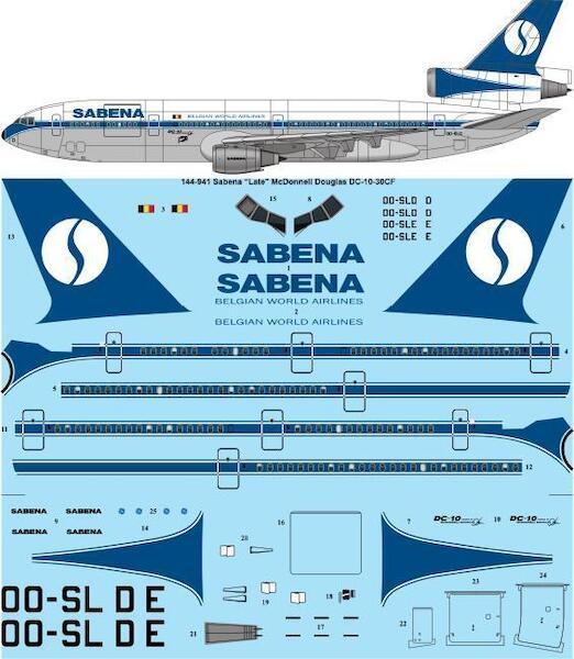 Mc Donnell Douglas DC10-30 (Sabena - Late Scheme)  144-941