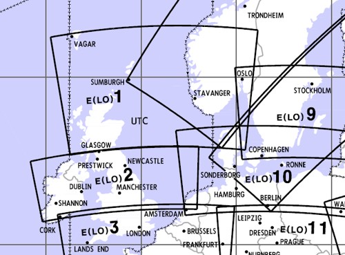 Low Altitude Enroute Chart Europe LO 1/2 (South Norway, Northsea, Scotland, Ireland, Mid UK)  E(LO)1/2