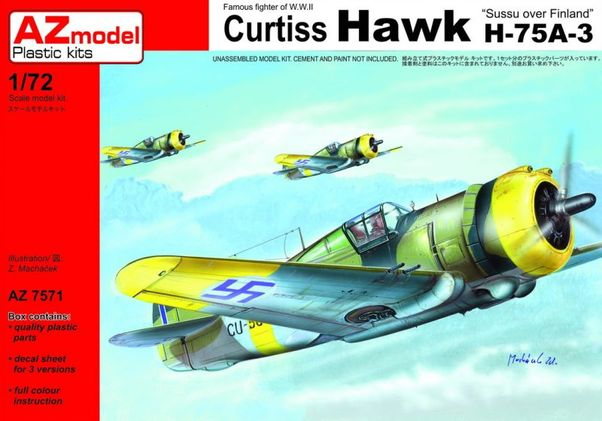 Curtiss Hawk 75A-3 Sussu over Finland  AZ7571