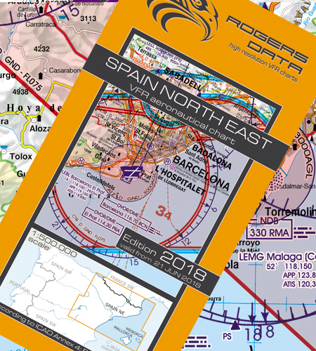 VFR aeronautical chart Spain North East  2018  ROGERS-ESP-NE