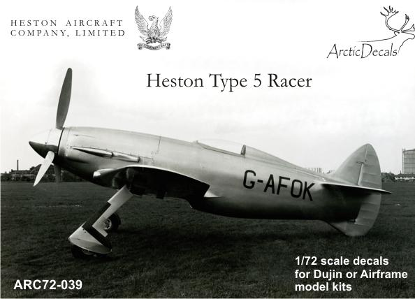 Heston Type 5 racer  ARC72-039