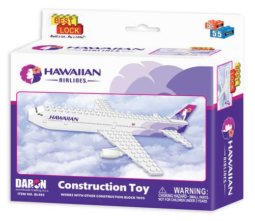 Construction Block Toy (Hawaiian Airlines) 55 piece  BL483
