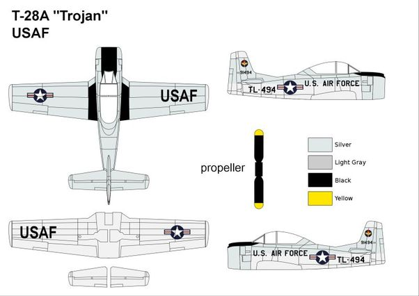 North American T28A Trojan (USAF)		  MINI313
