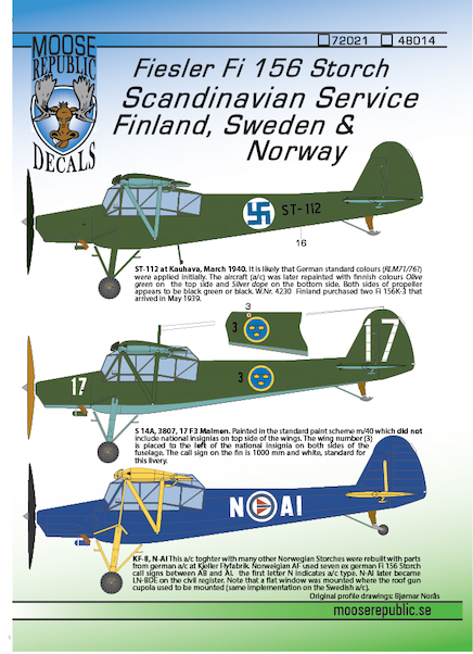 Fieseler Fi156 Storch in Scandinavian Service (Finland, Sweden, Norway)  48014