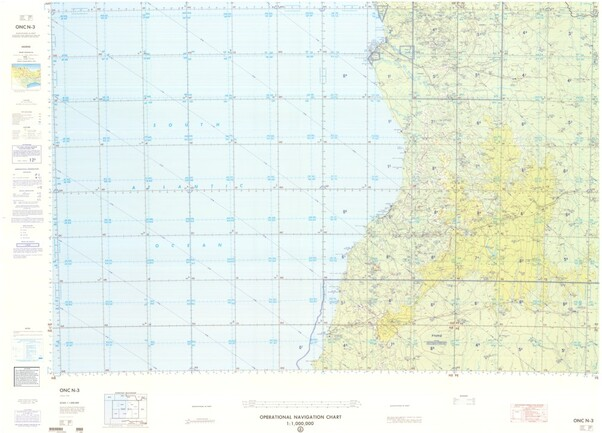 ONC N-3: Available: Operational Navigation Chart for Angola. Available ! additional charts available within five working days. E-mail your requirements.  ONC N-3