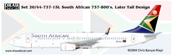 B737-800 (South African Later tail Design)  44-737-15L