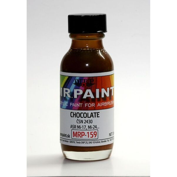 Chockolate Brown for Slovak Mi17, Mi24 etc...3 tone camo  (30ml Bottle)  MRP-159