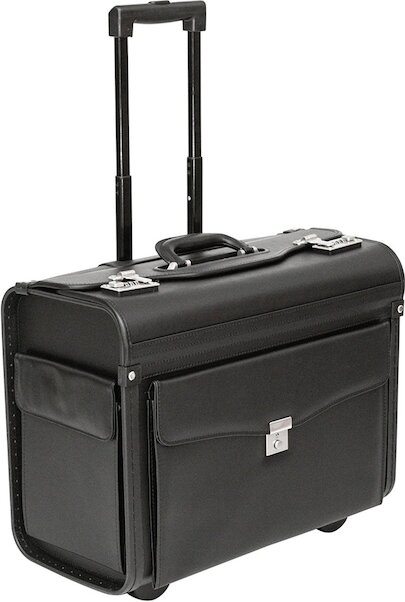 Vinyl Wheeled Laptop Pilot Case (PL1630) (black)  PL1630