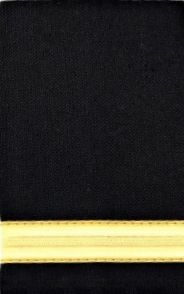 Set of two 1 gold bar Epaulettes with black background. ( 13 mm bar)  1BARGOLD