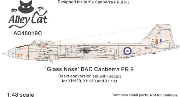 Canberra PR.9 early glass nose conversion set (Airfix)  ac48019c