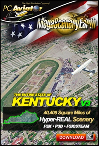Mega Scenery Earth Version 3, Kentucky (Download version)  DL-MSEV3-KY
