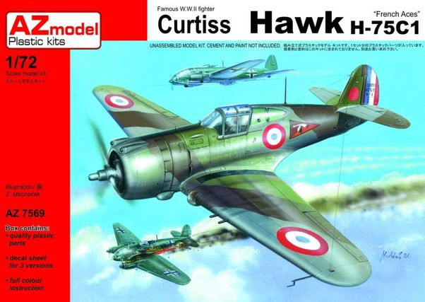 Curtiss Hawk 75A-2 French Aces  AZ7569