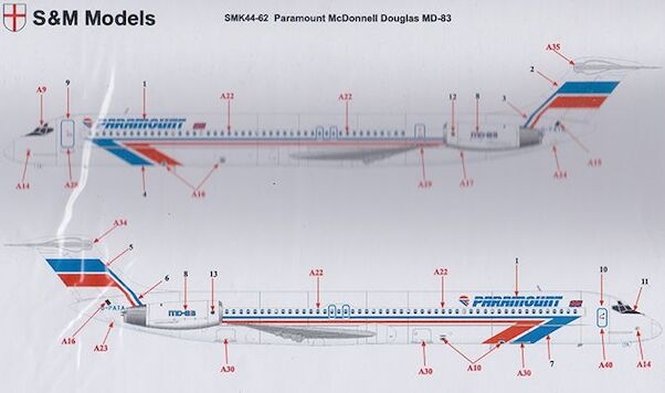 McDonnell Douglas MD83 (Paramount)  SMK44-62