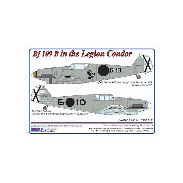 Messerschmitt BF109B-2 in Legion Condor  AMLC9-030