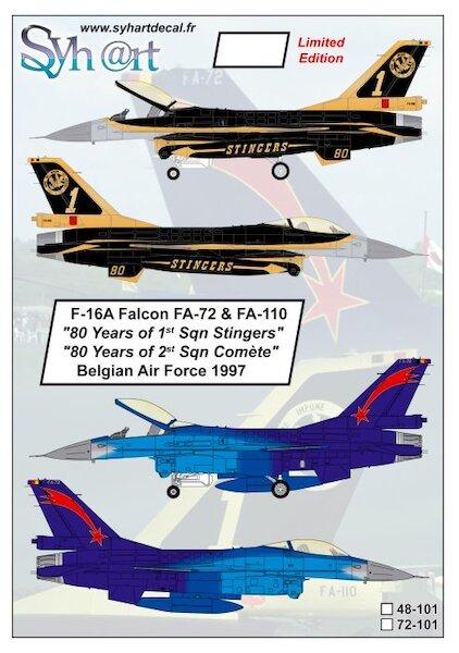 es72079// Decals 85th Anniversary F-16 Fighting Falcon Niederlande 1:72