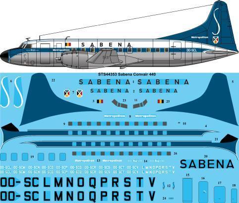 Convair 440 Metropolitan (Sabena)  sts44353