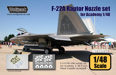 F22 Raptor Nozzle set (Academy)  WP48052