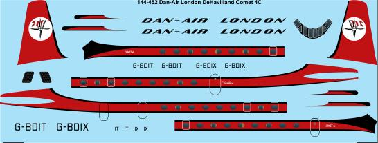 De Havilland Comet 4c (Dan-Air)  144-452