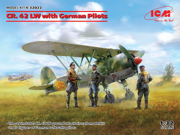 Fiat CR42LW With German pilots  32022