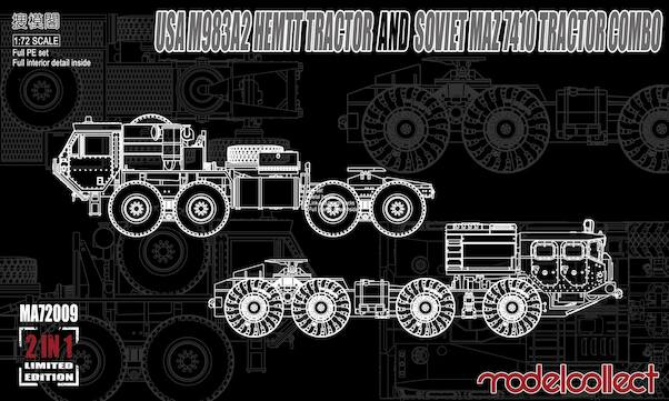 USA M983A2 HEMTT Tractor & Soviet MAZ7410 Tractor Combo (Limited combo set!)  MA72009