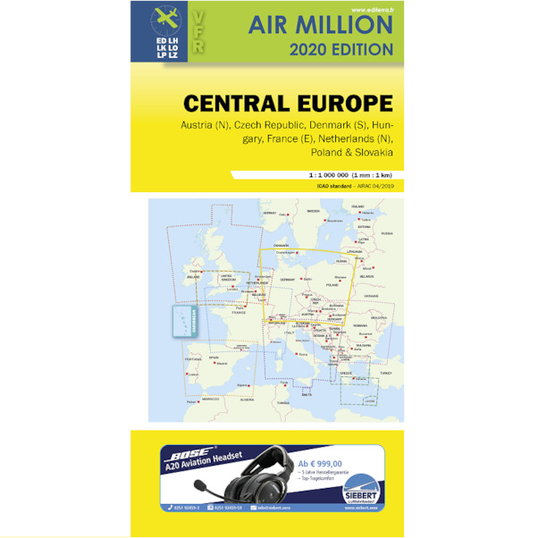 Germany: VFR Chart Central Europe Air Million 2020  3760249830239