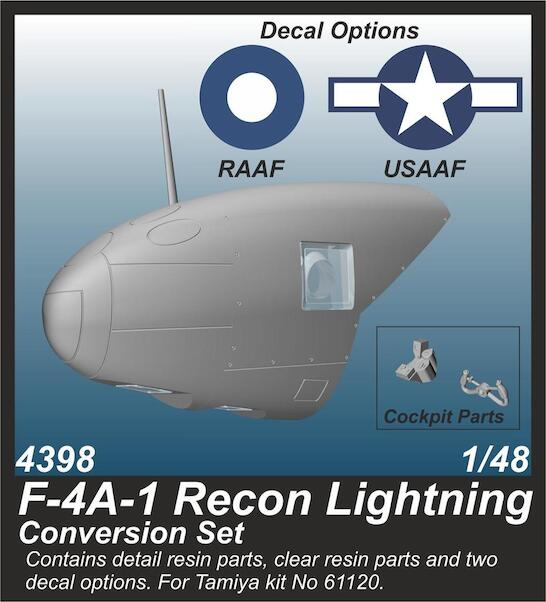 Lockheed F4A-1 Recon Lightning Conversion Set (Tamiya)  CMKA4398
