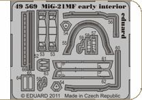 Detailset Mig21MF Fishbed (early) interior (Eduard)  E49-569