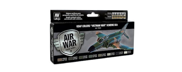 Vallejo Model Color Air Acrylic paint set for USAF 'Vietnam war