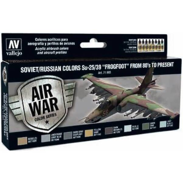 Vallejo Model Color Air Acrylic paint set Soviet/Russian Colours Sukhoi Su25/39
