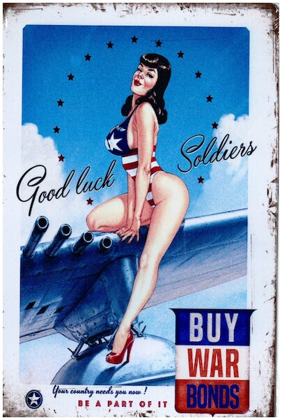 Good Luck Soldiers, Buy War Bonds pin up metal poster metal sign  YD6789DI