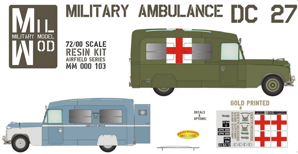 Military Ambulance Daimler DC27  MM000-103