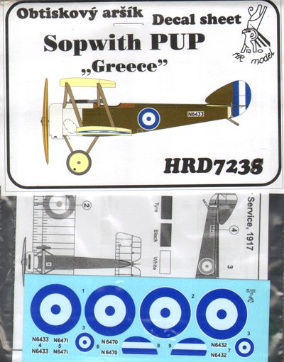 Spwith Pup (Greece)  HRD7238
