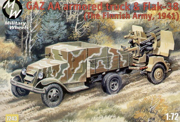 Military Wheels MW7224-1:72 Flak 38 Neu