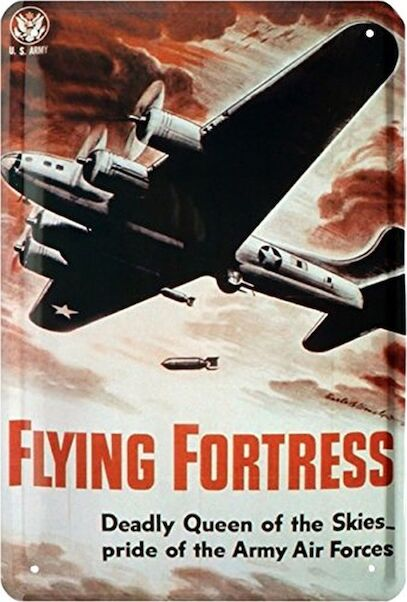 Flying Fortress B17 Bomber US Air Force metal poster metal sign  KM-665