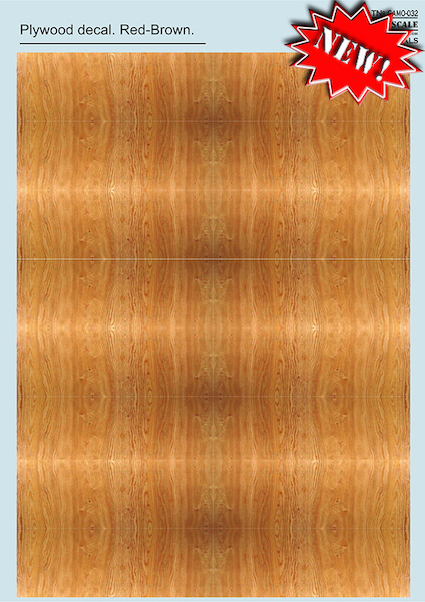 Plywood decal Red-Brown  PRS-CAMO-032