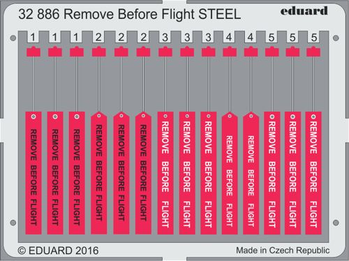 Detailset Remove Before Flight tags (STEEL)  E32-886