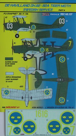 De Havilland DH82A Tiger Moth (Swedish Service part 2)  KDEC48127