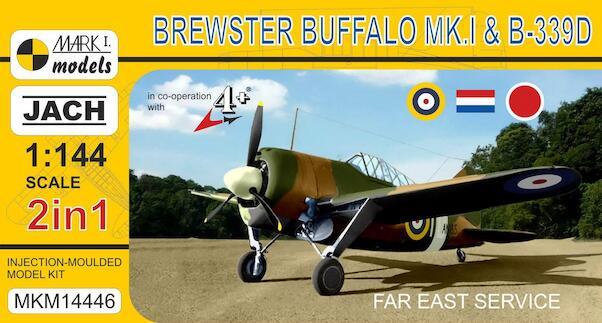 Brewster Buffalo Mk.I/B-339D 'Far East Service' (2 kits included)  MKM14446