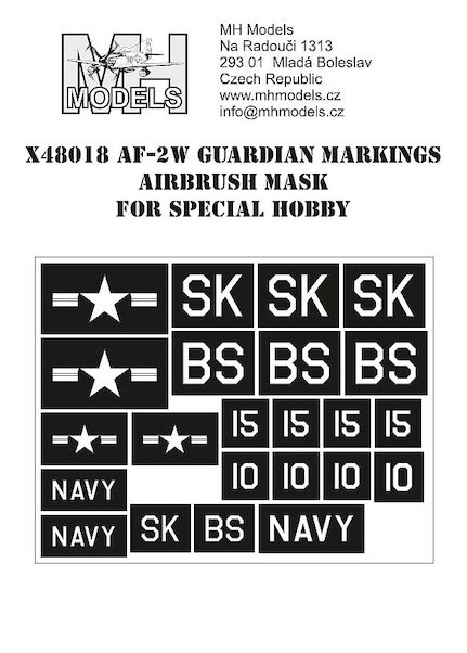 AF2W Guardian markings airbrush mask (Special Hobby)  X48018