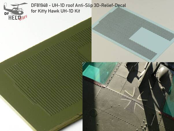Anti-Slip-Surface for UH-1D Huey roof (KittyHawk)  DF81948
