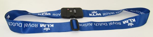 Luggage strap with TSA lock - KLM Royal Dutch Airlines  LUG-KLM