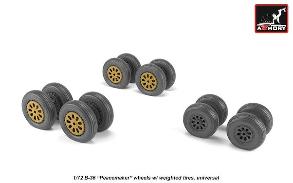 B36 Peacemaker  Wheel set with weighted tires  AR AW72327