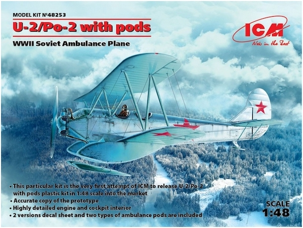 Polikarpov U-2/Po-2 with pods and Ski's  WWII Soviet Ambulance plane  48253