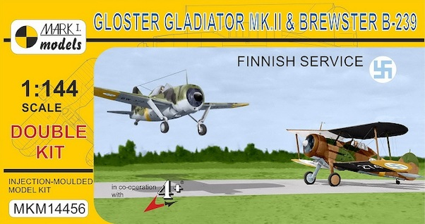 Brewster B-239 Buffalo and Gloster Gladiator MKII in Finnish Service (2 kits included)  MKM14456