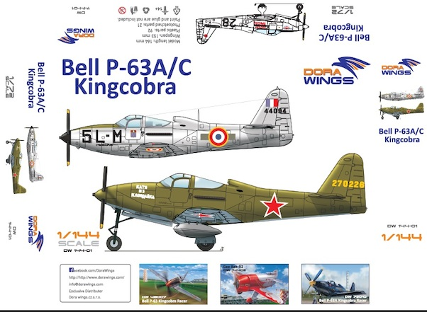 Bell P-63A/C Kingcobra (2 kits included!)  DW14401