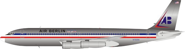 B707-100 (Air Berlin USA / American Airlines) N7509A Polished With Stand  IF701AB001P
